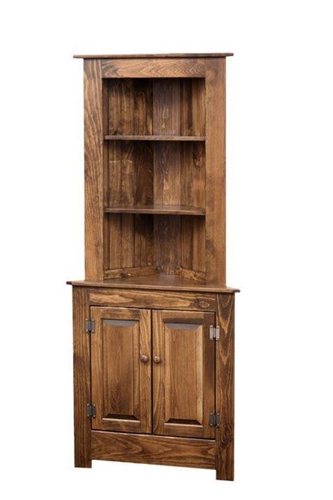 farmhouse corner hutch  dutchcrafters amish furniture