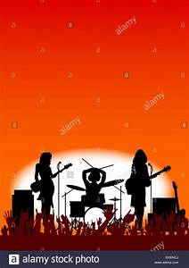 The gallery for --> Rock Band On Stage Silhouette