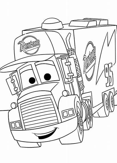 Coloring Cars Disney Pages Mack Pixar Drawing