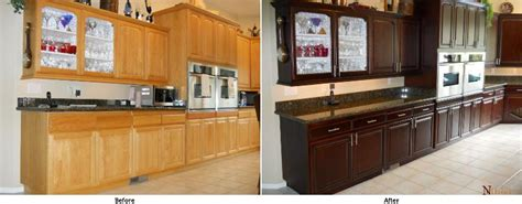 Give Your Kitchen A Facelift Stain Your Kitchen Cabinets