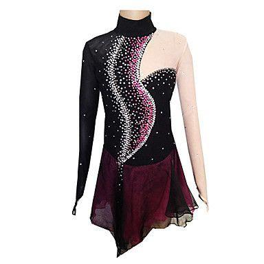 149 99 figure skating dress s skating dress black and purple spandex