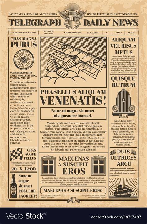 tutorial template newspaper vintage newspaper template world of label