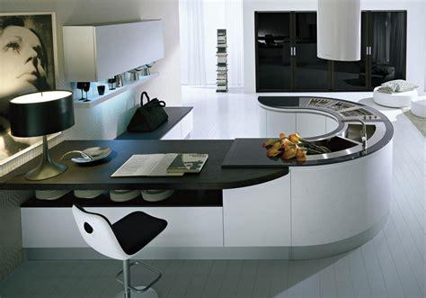 las suaves formas curvas en las cocinas cocinas  estilo