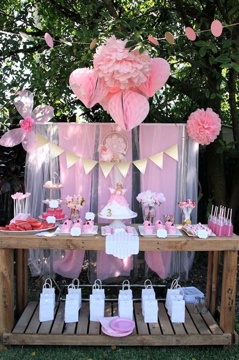 pink fairy birthday party ideas planning decor cake