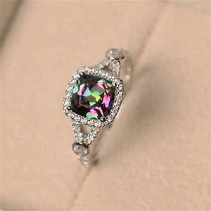 mystic topaz ring rainbow topaz ring engagement ring With topaz wedding ring