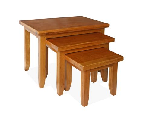 oak dining table canterbury oak nest of tables