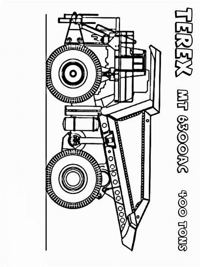 Dump Truck Coloring Pages Printable Mycoloring Transportation