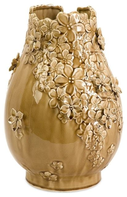Large Floral Vases by Large Yellow Gold Floral Flower Vase Transitional