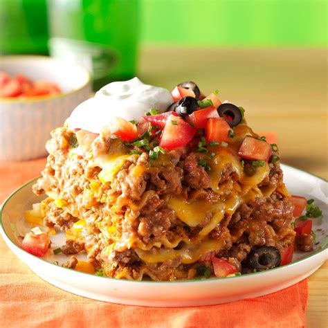 mexican dishes mexican lasagna recipe taste of home