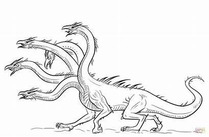 Hydra Coloring Drachen Zum Ausmalbild Dragon Ausmalbilder