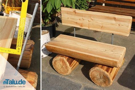 Massive Gartenbank Aus Holz Selber Bauen Diyanleitung