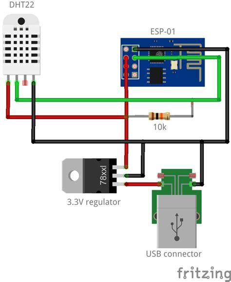 esp temperature humidity iot logger home circuits