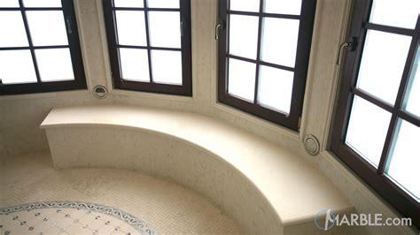 jerusalem white limestone shower seat bench