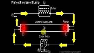 How A Fluorescent Light Works - Schematic - In Tamil