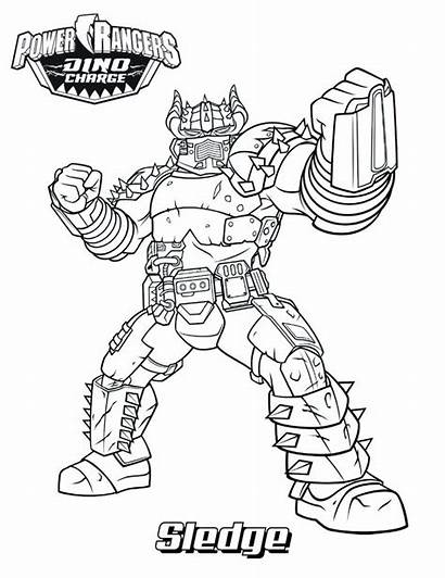 Coloring Rangers Dino Power Ranger Pages Printable