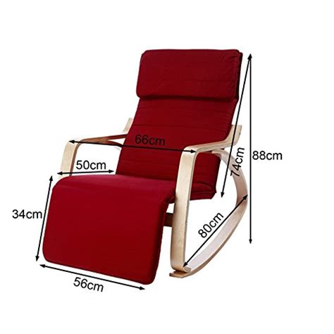 sobuy comfortable relax rocking chair with foot rest
