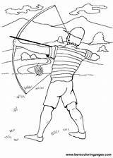 Coloring Archer Archery Sheet Designlooter Sketch Template sketch template