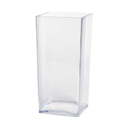 Square Vases by 25cm Clear Acrylic Cube Vase Lightweight Durable Square