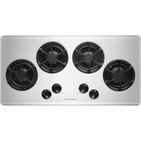frigidaire ffgcls  gas cooktop   sealed burners cast iron grates  simmer burner