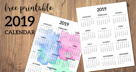 calendar printable page paper trail design