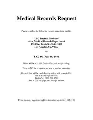 printable medical records request letter forms