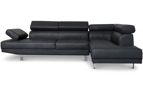 canape tetiere canapé d 39 angle gauche noir avec têtière relevable mildura