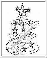Coloring Rock Pages Star Getcolorings sketch template
