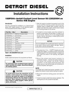 Installation Instructions  18sp544 U2014install Coolant Level