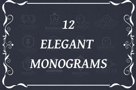 elegant monograms logo templates creative market