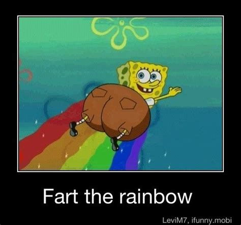 Spongebob Rainbow Meme - spongebob can fart a rainbow while flying what kind of other secrets does he have funny pics