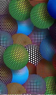Multicolored Patterned Spheres 3d Wallpaper 2560x1600 ...