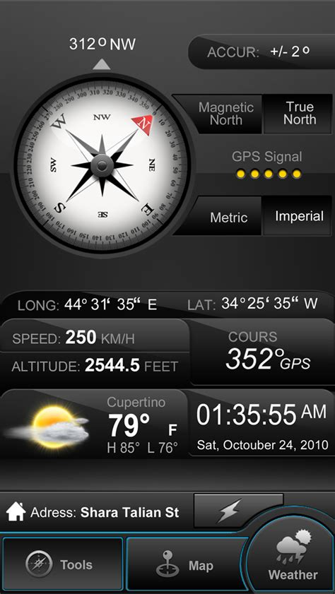 compass app for iphone weather compass gps weather map speedometer altimeter