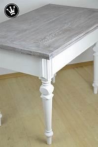 Alte Möbel Streichen Shabby Chic : diy tisch mit kreidefarbe streichen tischplatte mit der ~ Watch28wear.com Haus und Dekorationen