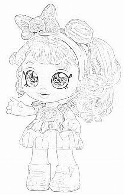 Kindi Coloring Pages Dolls Donatina Clipart Downloadable