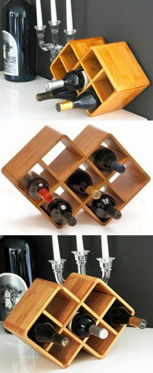 countertop wine rack cube 8 bottle bamboo countertop wine rack get