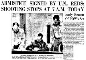 Image result for armistice agreement that ended the Korean War was signed at Panmunjon, Korea.