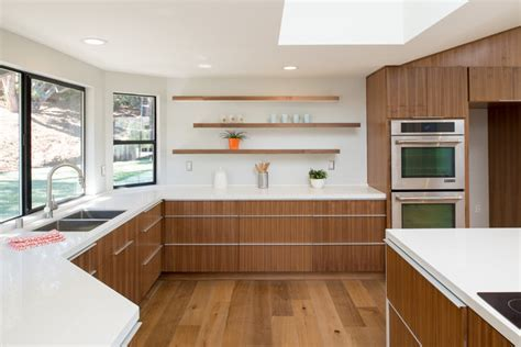 rift cut walnut Kitchen cabinets   Modern   Kitchen   San