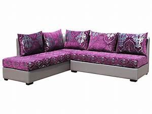 oriental concept canape d39angle oriental mauve et argente With tapis oriental avec canapé convertible en mousse