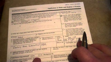 atf form 4 individual how to apply for nfa firearm form 1 paperwork youtube