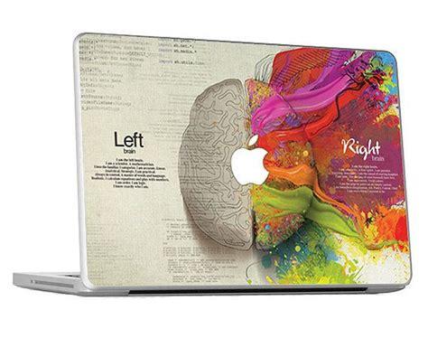 left  brain creative macbook skin decal door