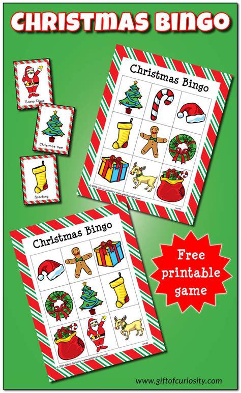 preschool christmas game bingo free printable gift of curiosity 227