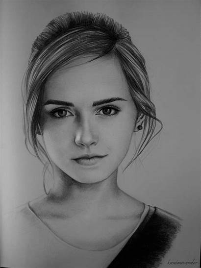 Portrait Watson Emma Deviantart Portraits Face Drawings