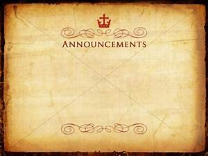 Gift of Christmas Announcement Background | Church ...