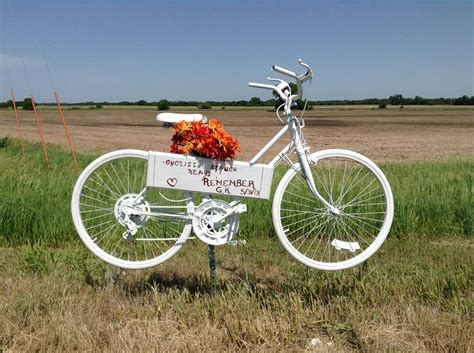 Ghost Bike Erected For Gail Kline  Kansas Cyclist News