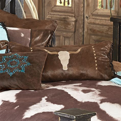 Western Bedding: High Plains Steer Head Pillow Lone Star