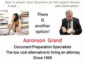 aaronson grand paralegal services bankruptcy divorce etc With bankruptcy document preparation service