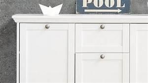 Kommode Weiß Landhausstil : kommode landwood sideboard anrichte in wei mit 3 t ren landhausstil ~ Indierocktalk.com Haus und Dekorationen
