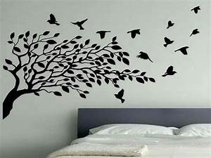 photo wall ideas bedroom flying birds wall decor white With kitchen colors with white cabinets with birds in flight wall art