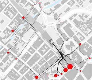 Pedestrian Traces Diagram Illustrating The Pedestrian Desire Lines From Snowhill Station Exits