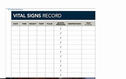 Vital Record Sign Template